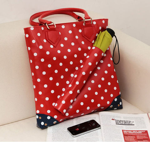 DOT,PATTERN,TOTE,BAG