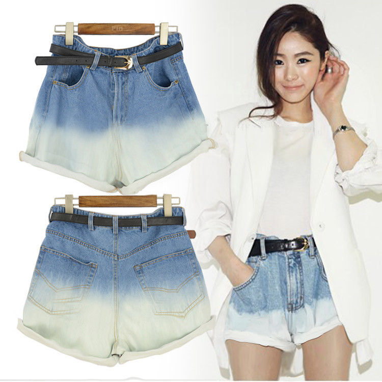 DIP DYE DENIM SHORTS - product image