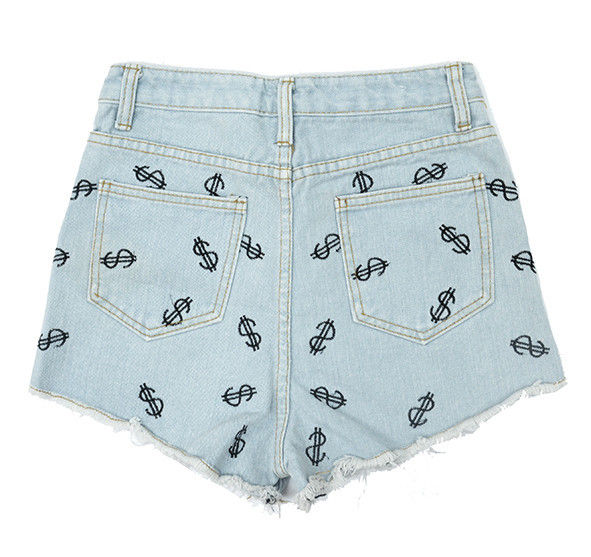 DENIM DOLLAR PATTERN SHORTS - product image