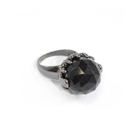 DARK,SILVER,WITH,BLACK,CRYSTAL,RING