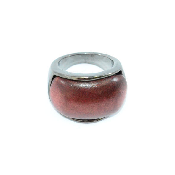 DARK SILVER METAL WITH WOOD RING - product image