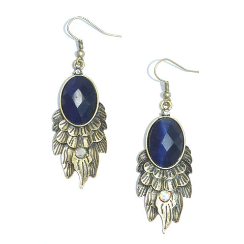 DARK,CRYSTAL,DROP,EARRING