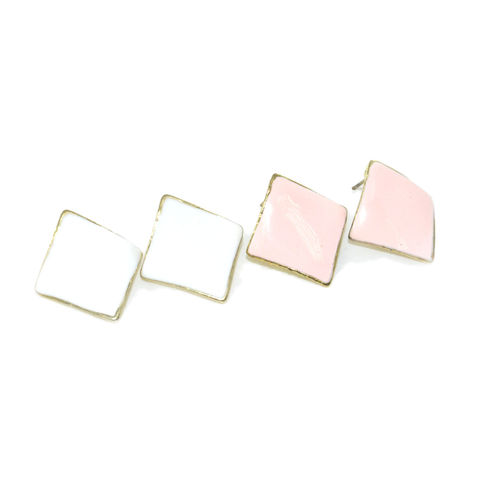 CURVE,SQUARE,EARRINGS