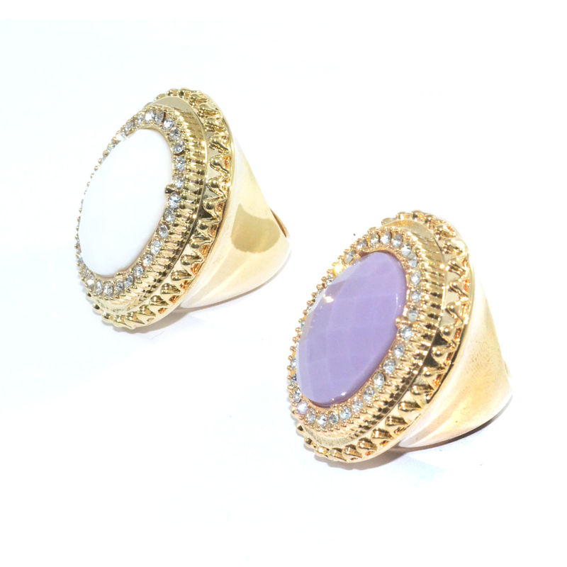CRYSTALS DECOR OVAL GEM RING - product image