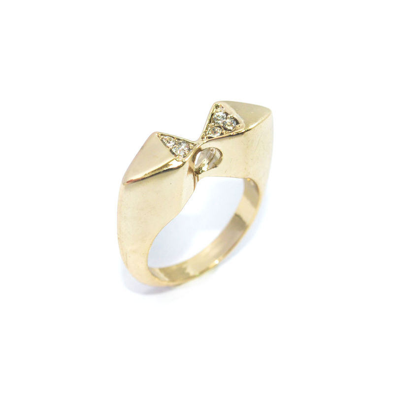 CRYSTALS BOW RING - product image