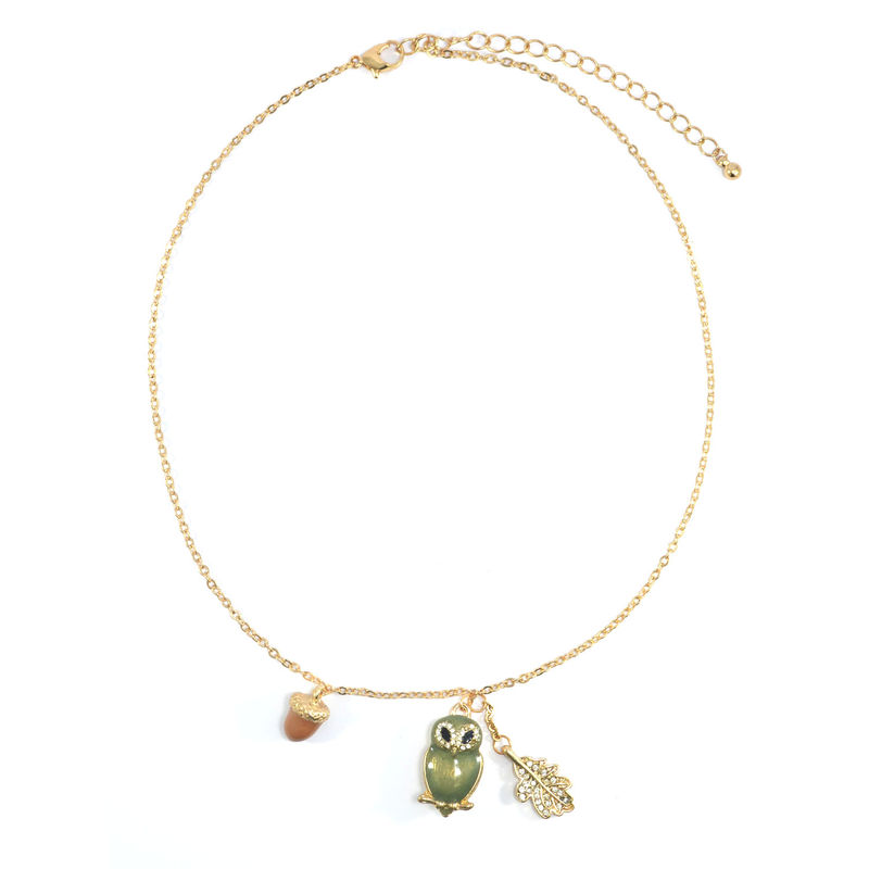 CRYSTAL OWL NECKLACE - product image