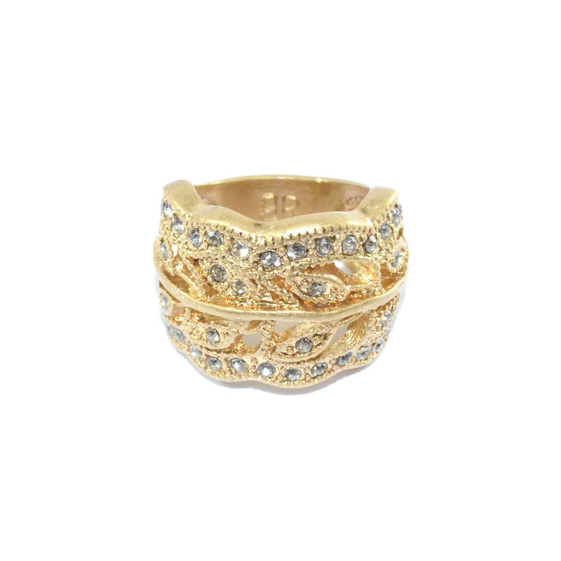 CRYSTAL LEAVES RING - product image