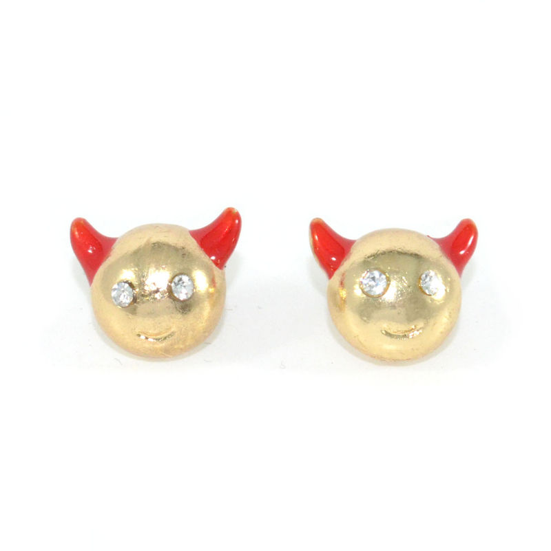 CRYSTAL DEVIL EARRINGS - product image