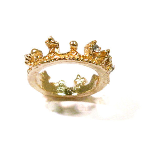 CRYSTAL CROWN RING - product image