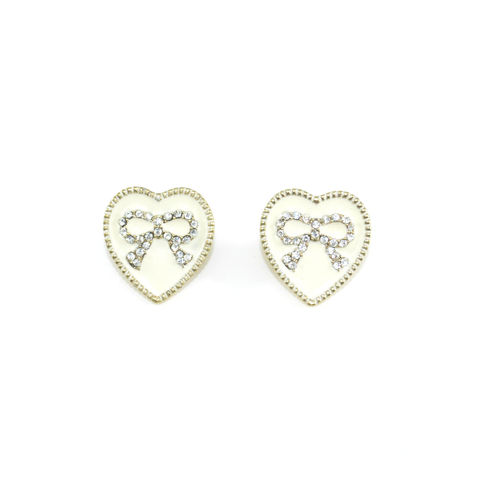 CRYSTAL,BOW,HEART,EARRINGS