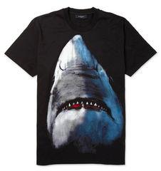 SHARK,PRINT,TEE
