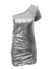 SEQUIN,PARTY,DRESS,SILVER