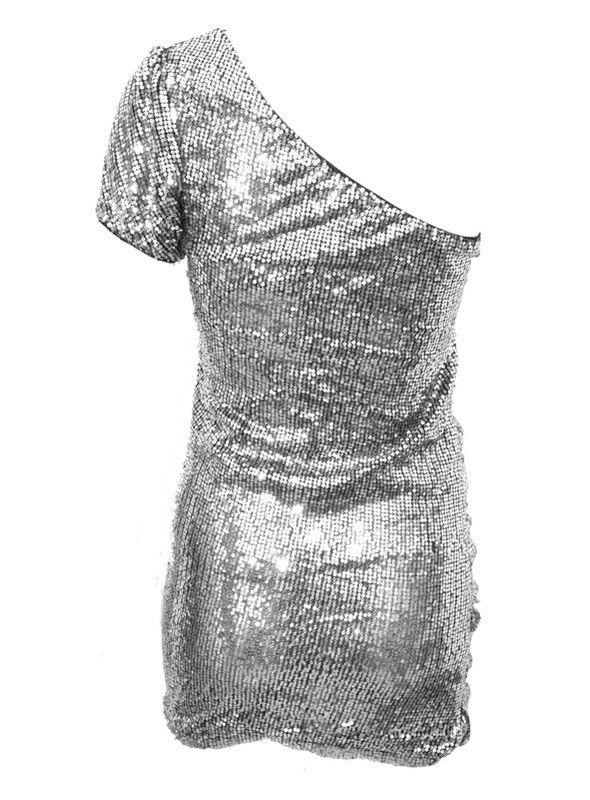 SEQUIN PARTY DRESS SILVER - product image