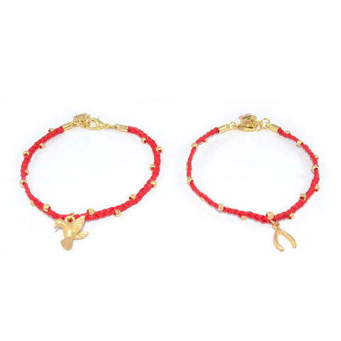 RED,STRAP,WITH,GOLD,TONE,BEADS,AND,LITTLE,CHARM,BRACELET,vendor-unknown,Cart2Cart