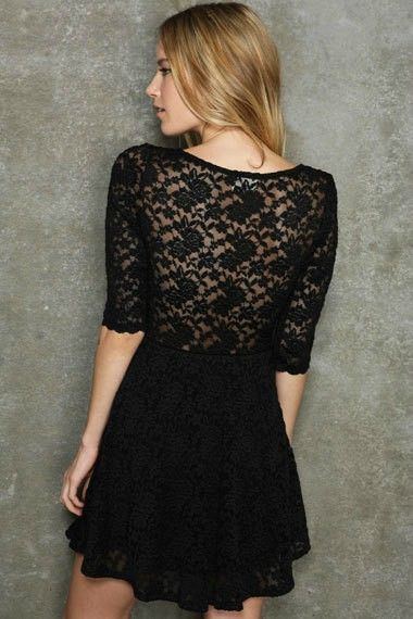 QUARTER SLEEVE LACE DRESS - product image