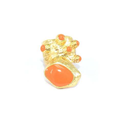 PRECIOUS,RING,COLOR PRECIOUS RING, GOLD CHUNKY RING