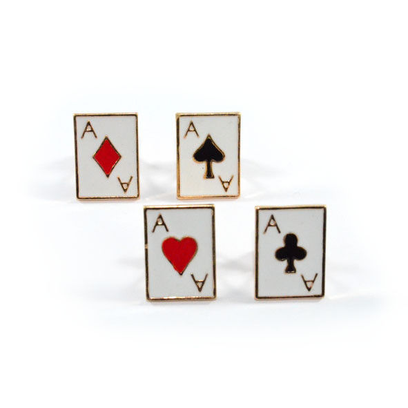 PLAYING CARDS COLLAR PIN - product image