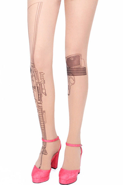 Gun Pattern Tights Gun Tattoo Pattern Tights