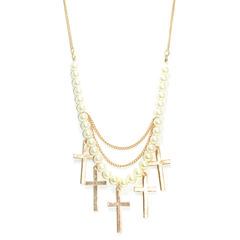 PEARLS,WITH,CROSSES,PENDANT,NECKLACE