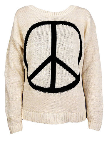 PEACE,SIGN,JUMPER,111,Sweaters