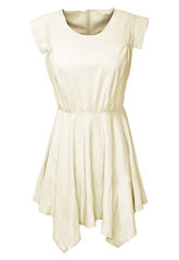 PASTEL,CHIFFON,DRESS,BEIGE