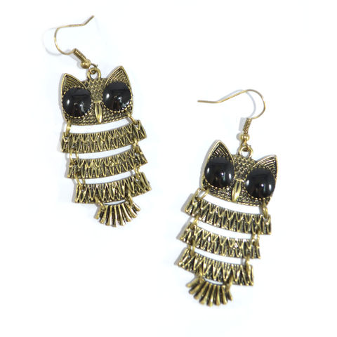 OWL,EARRINGS