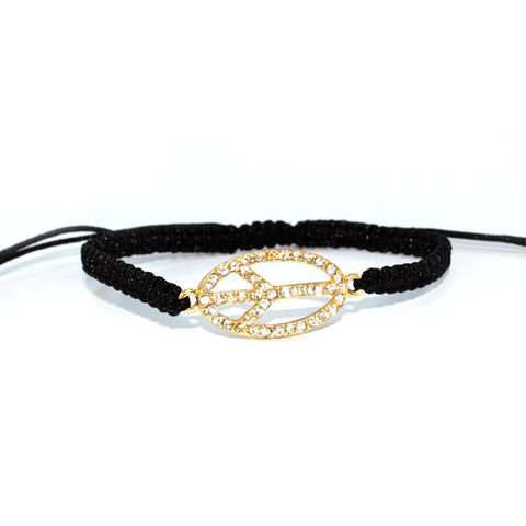OVAL,PEACE,LOGO,WITH,CRYSTAL,BLACK,STRAP,BRACELET,vendor-unknown,Cart2Cart