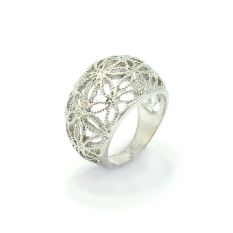 OVAL,HOLLOW,FLOWER,PATTERN,RING,111,SILVER FLORAL RING, LARGE FLORAL RING, HOLLOW FLORAL RING
