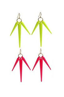 NEON,TRIPLE,SPIKE,EARRING