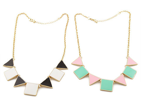 MULTI,SQUARE,AND,TNANGLE,NECKLACE