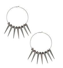 MULTI,SPIKE,WITH,BLACK,CRYSTAL,EARRING