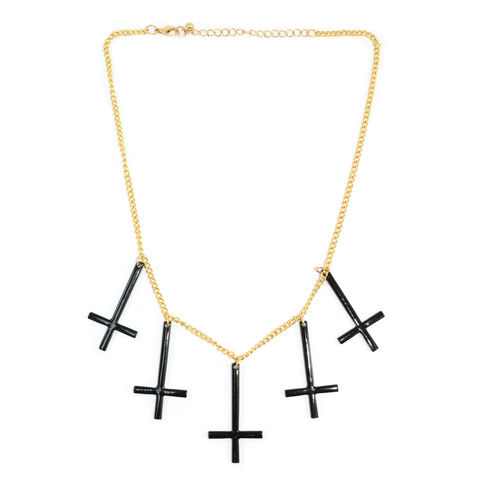 MULTI,CROSS,NECKLACE