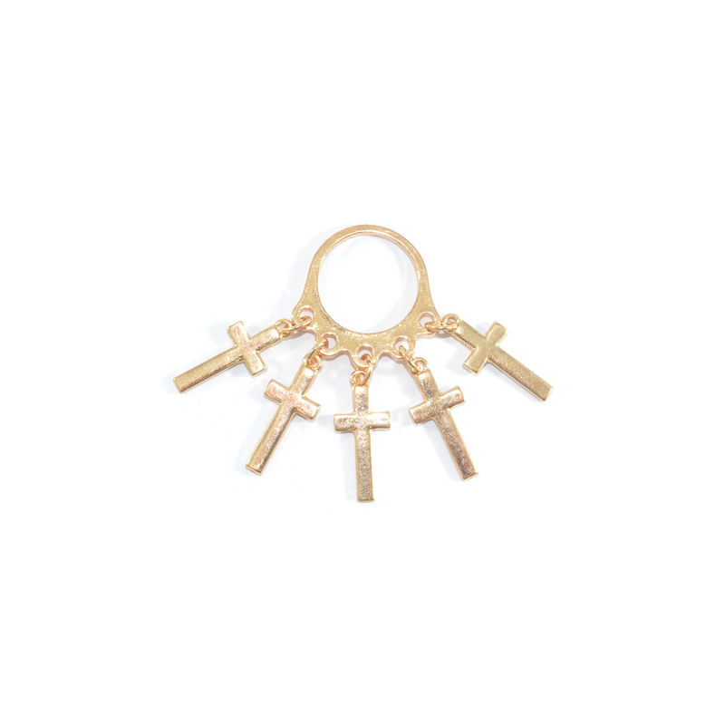 MULTI CROSS DROP RING - product image