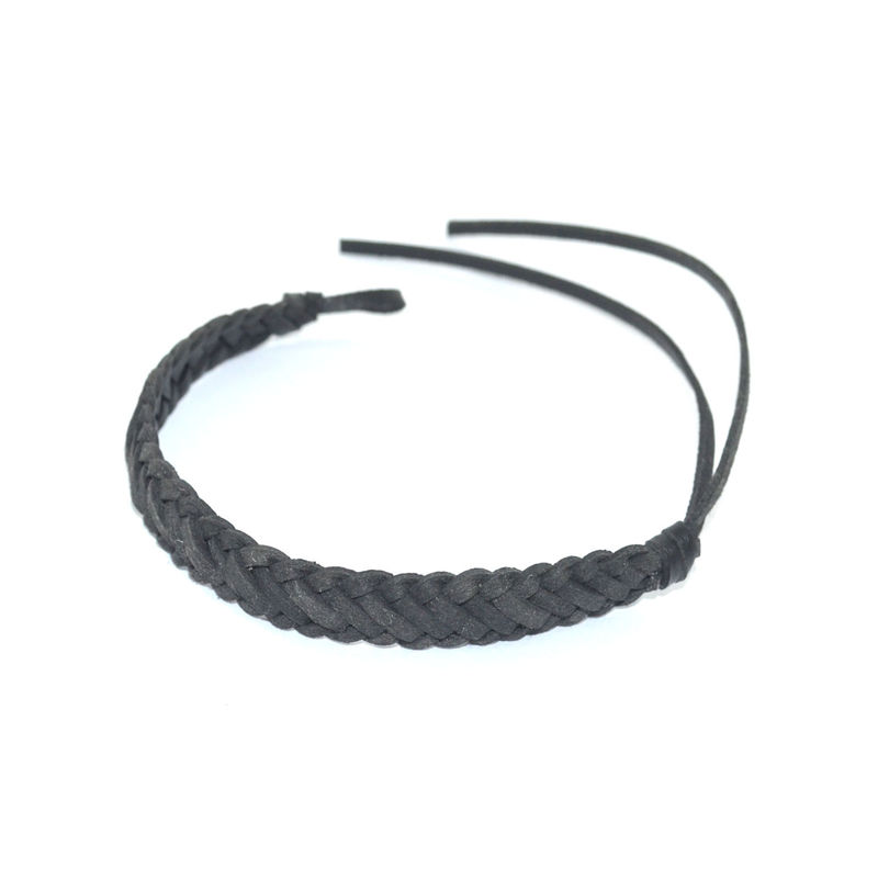 MINIMAL WOVEN FAUX LEATHER BRACELET - product image