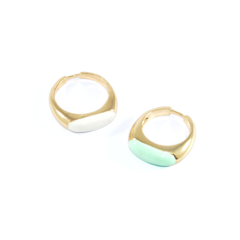 MINIMAL OVAL GEM RING - product image