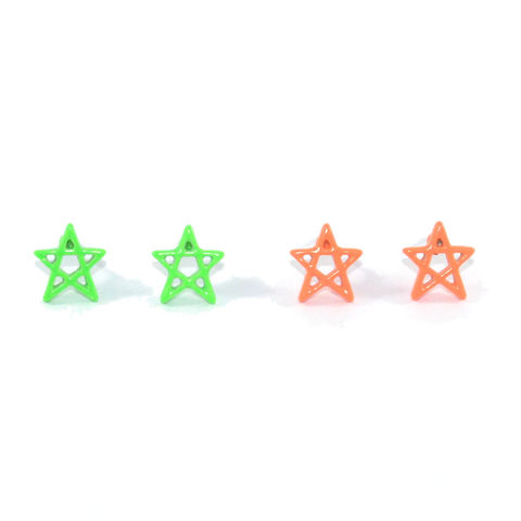 MINIMAL,NEON,STAR,EARRINGS