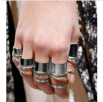 MINIMAL METALLIC RING SET - product image