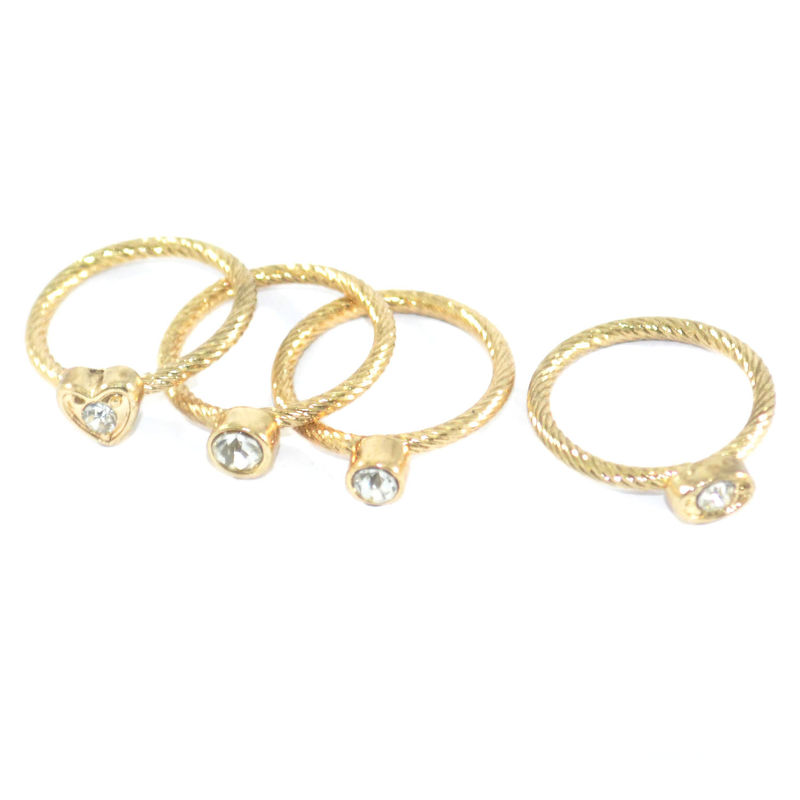 MINIMAL CRYSTAL RING SET - product image