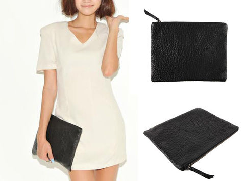 MINIMAL,BLACK,CLUTCH,BAG