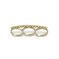 MINI,HEARTS,TRIPLE,FINGER,RING,small heart ring, mini heart ring, gold heart ring, rings and things
