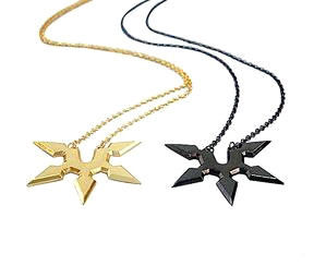 METALLIC,NINJA,STAR,NECKLACE