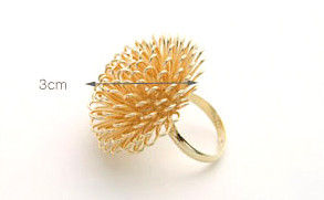 METALLIC FLOWER RING - product image