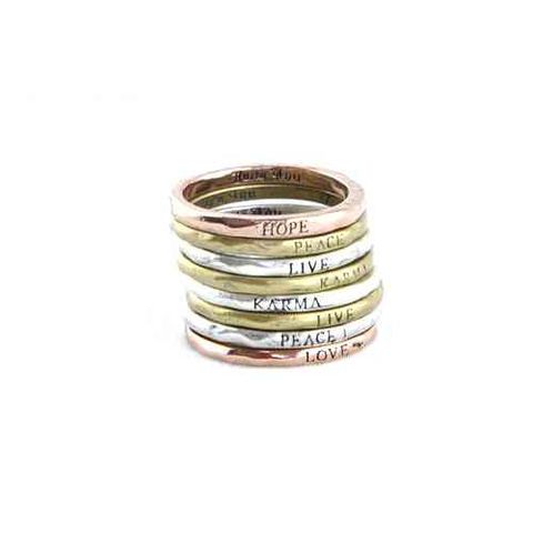 MAKE,A,WISH,RING,fashion minimal ring, minimal message ring