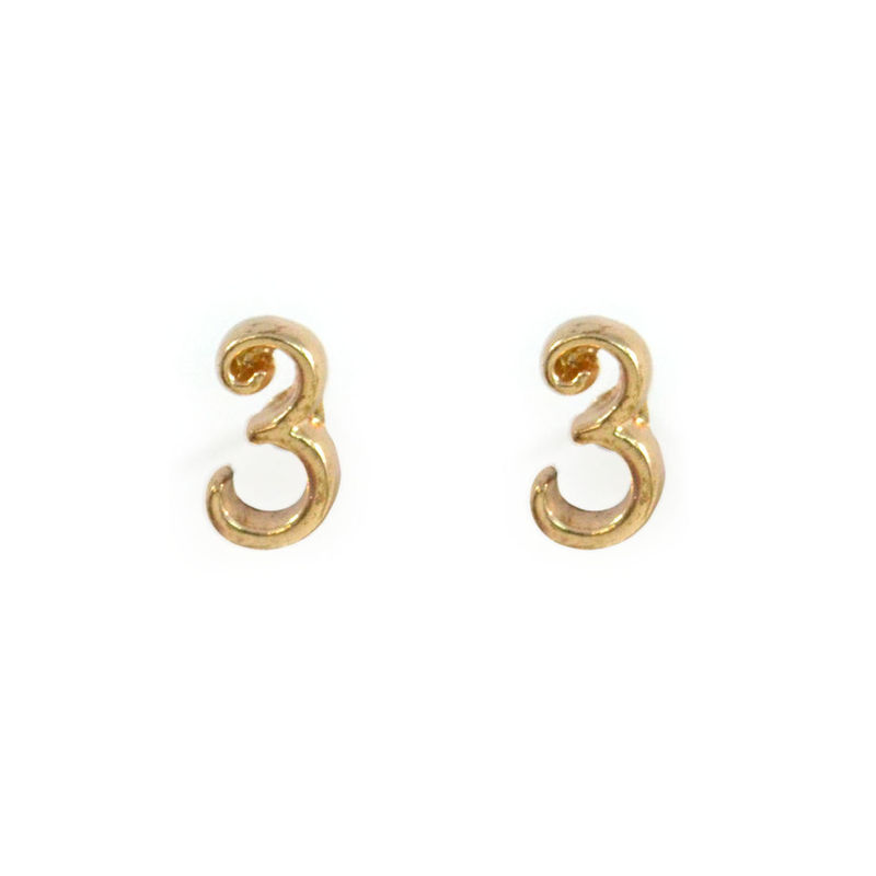 Lucky Number Earrings Product Image
