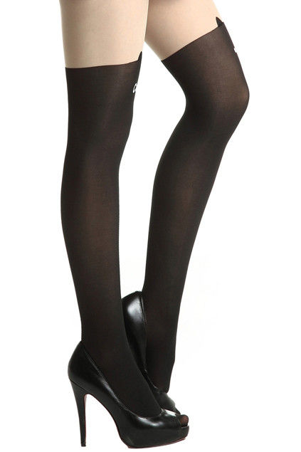 LOVE CAT TATTOO PATTERN TIGHTS - product image