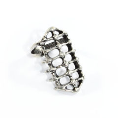 LONG,SKELETON,RING,long skeleton ring, long bone ring