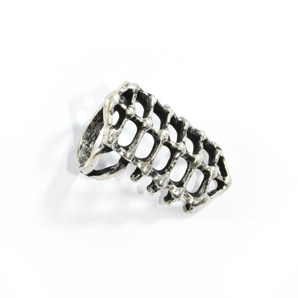 LONG SKELETON RING - product image