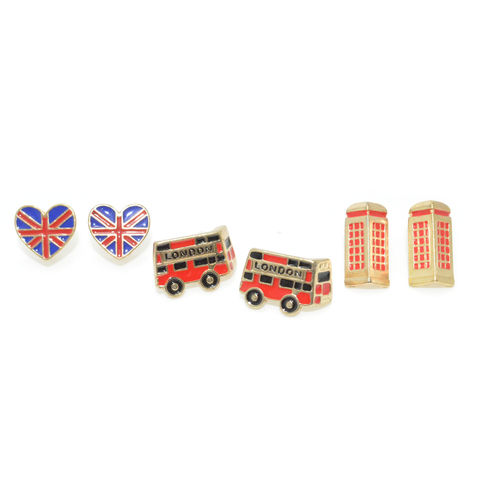 LONDON,STYLE,EARRING,SET