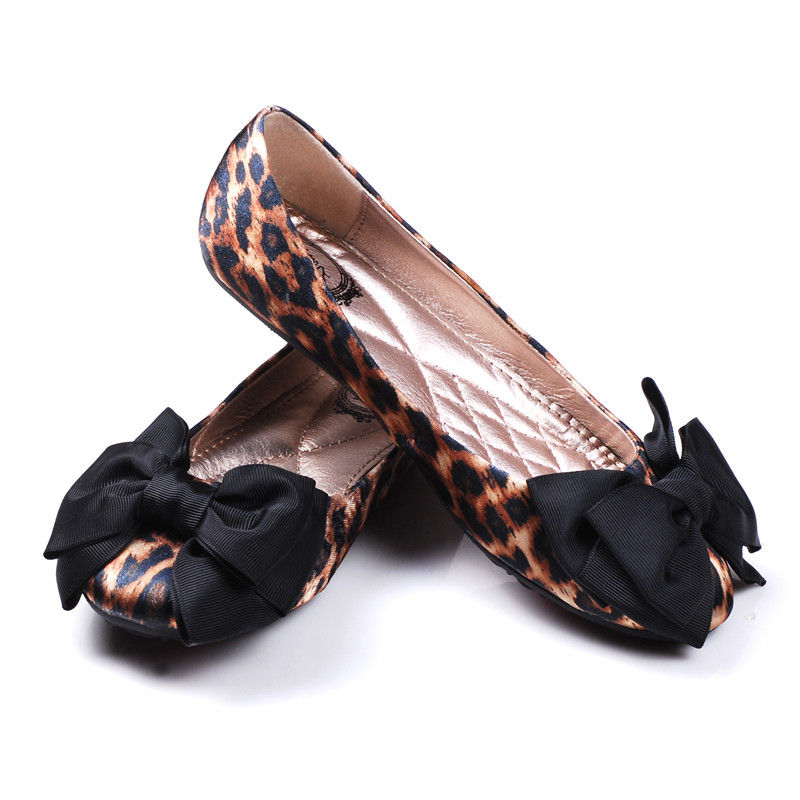 Flats With Bows Floral Print Bow Flats On The Hunt Pink