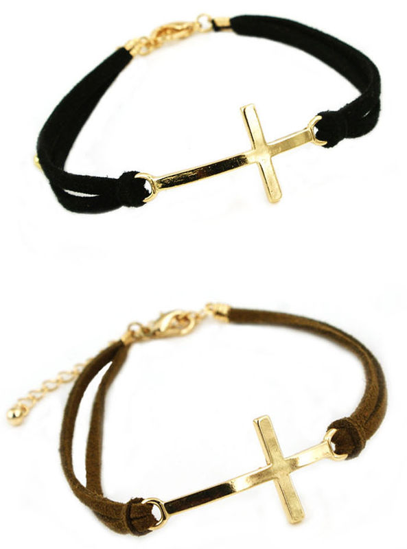 Leather Strap With Charm Bracelet Product Image